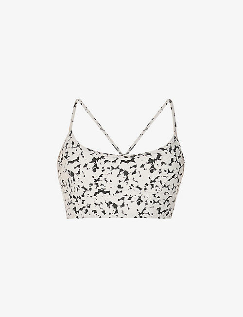 VARLEY: Irena graphic print stretch-woven bra