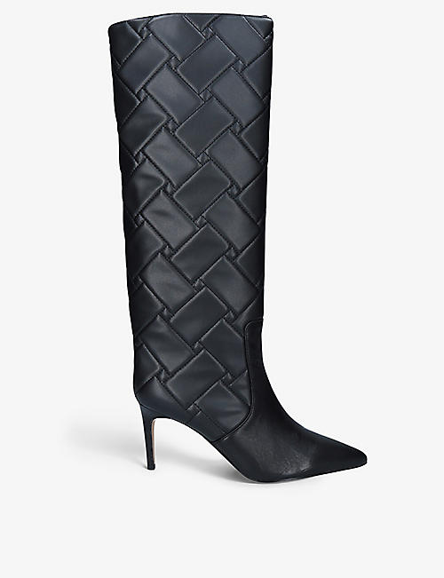 KURT GEIGER LONDON: Bickley leather knee-high boots