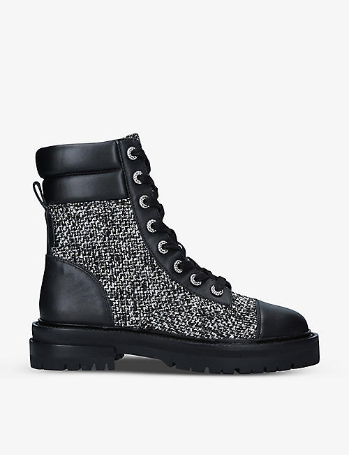 KURT GEIGER LONDON: Shore tweed and leather boots