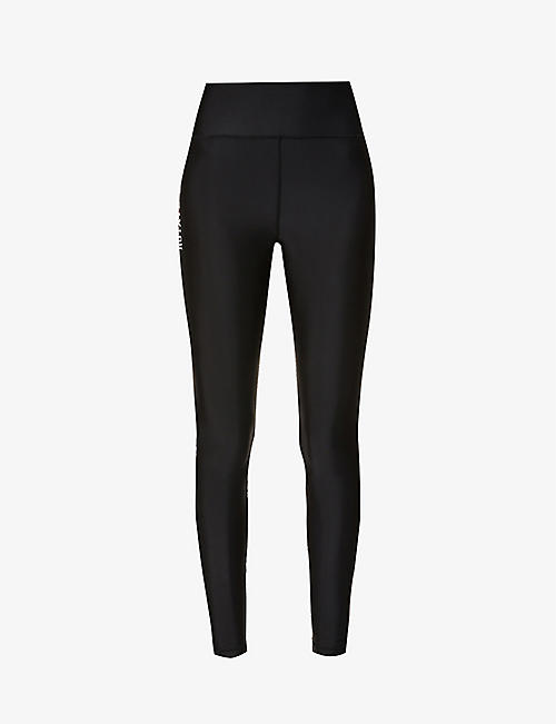 ROTATE SUNDAY: Kamelia high-rise recycled polyester-blend leggings