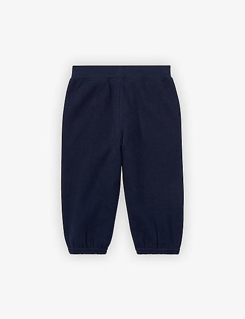RALPH LAUREN: Logo-embroidered cotton jogging bottoms 3-24 months