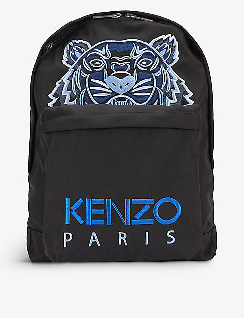 KENZO: Tiger graphic-embroidered canvas backpack