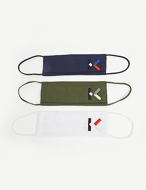 KENZO: Logo face coverings pack of 3