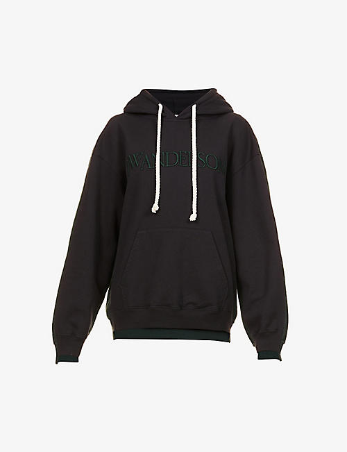 JW ANDERSON: logo-embroidered cotton-jersey hoody