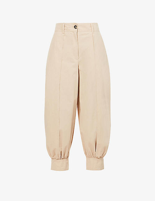 JW ANDERSON: Relaxed-fit high-rise cotton-twill trousers