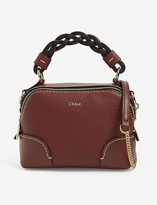 CHLOE: Daria mini leather shoulder bag