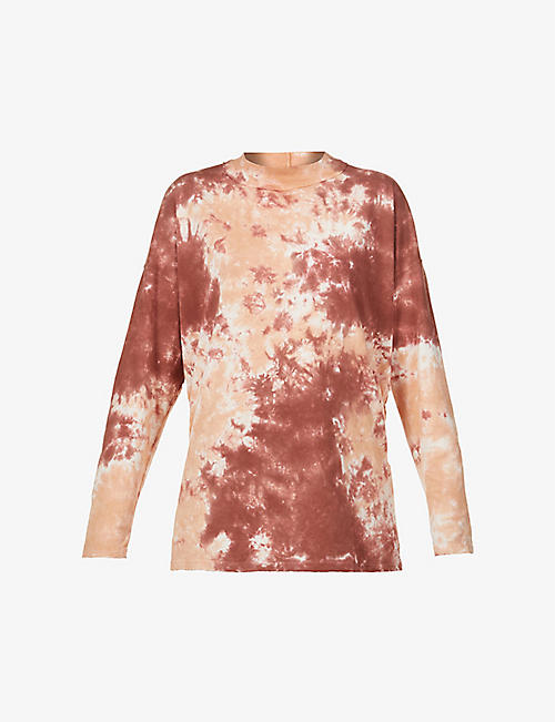 FREE PEOPLE: Be Free tie-dye cotton-jersey sweatshirt