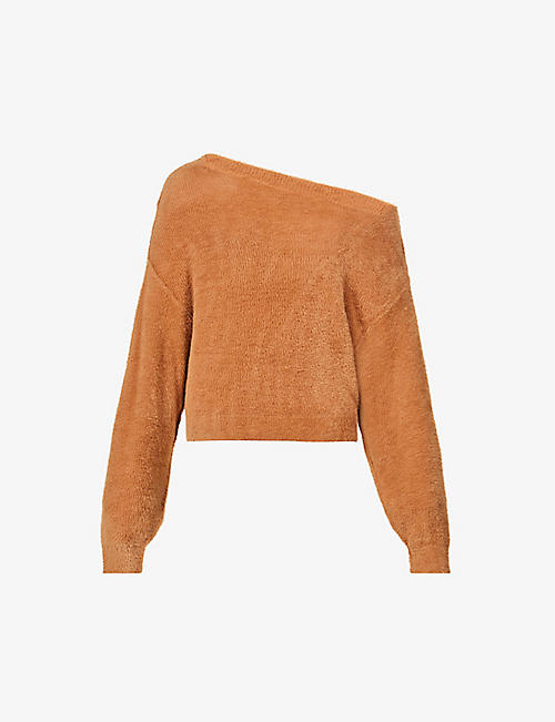 FREE PEOPLE: Star Sign off-the-shoulder knitted jumper