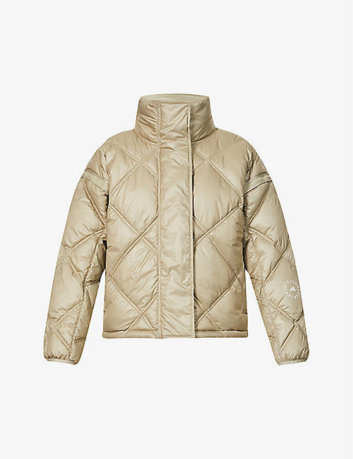 ADIDAS BY STELLA MCCARTNEY: Funnel-neck recycled-polyester jacket