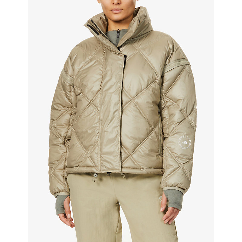 Adidas By Stella Mccartney Linings FUNNEL-NECK RECYCLED-POLYESTER JACKET