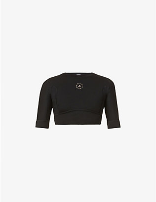 ADIDAS BY STELLA MCCARTNEY: Yoga cropped stretch-recycled polyester top