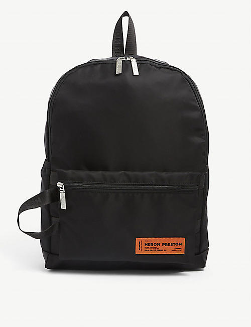 HERON PRESTON: Logo-embroidered nylon backpack