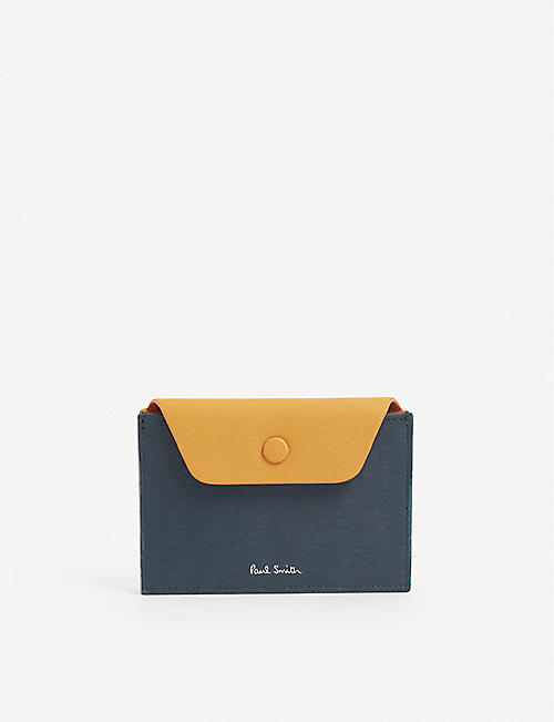 PAUL SMITH: Logo-embossed leather envelope wallet