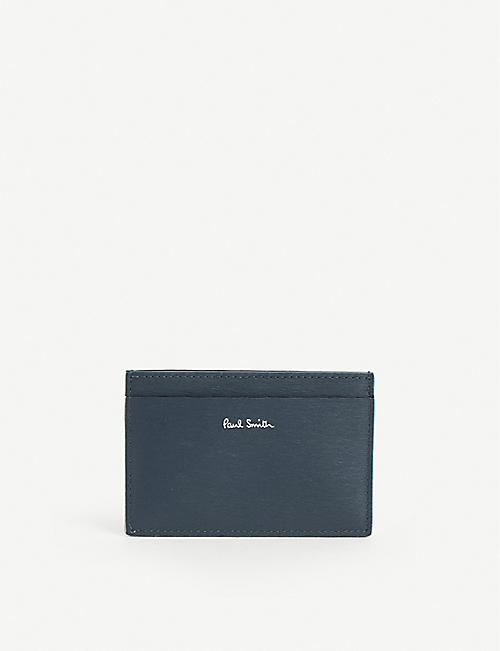 PAUL SMITH: Logo-embossed leather card holder