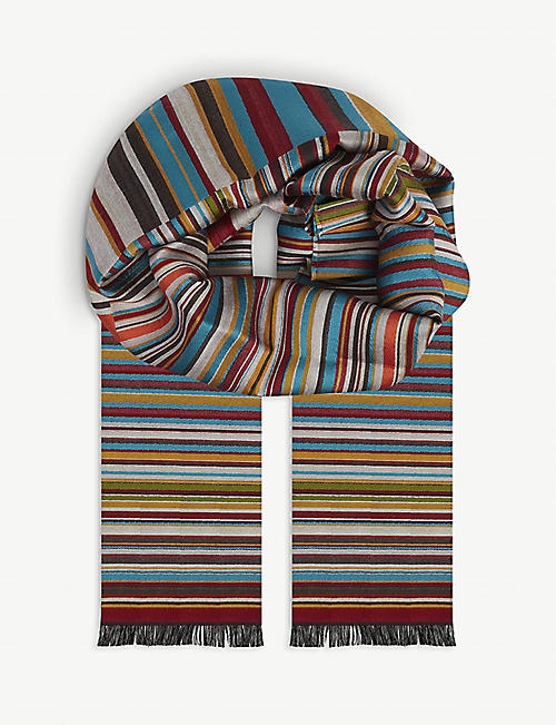 PAUL SMITH: Striped woven scarf