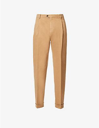TIGER OF SWEDEN: Trevor regular-fit tapered stretch-cotton trousers
