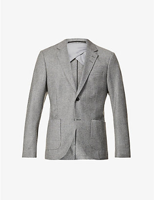 TIGER OF SWEDEN: Single-breasted wool blazer