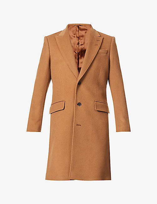 TIGER OF SWEDEN: Notch-lapel woven coat