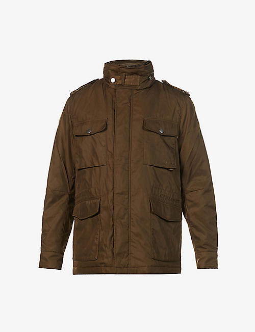 TIGER OF SWEDEN: High-neck recycled-polyester field jacket