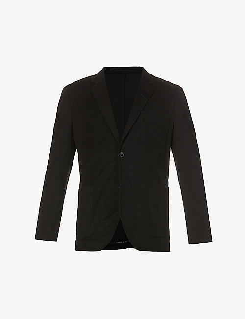 TIGER OF SWEDEN: Slim-fit stretch-cotton blazer