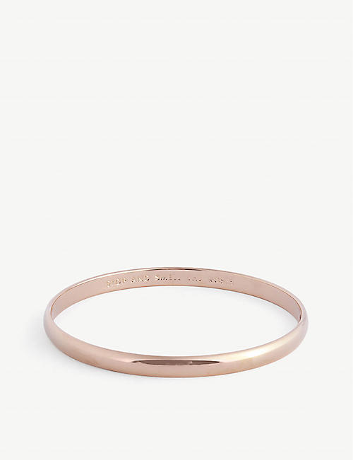 KATE SPADE NEW YORK: Stop And Smell The Roses 12ct gold-plated brass bangle