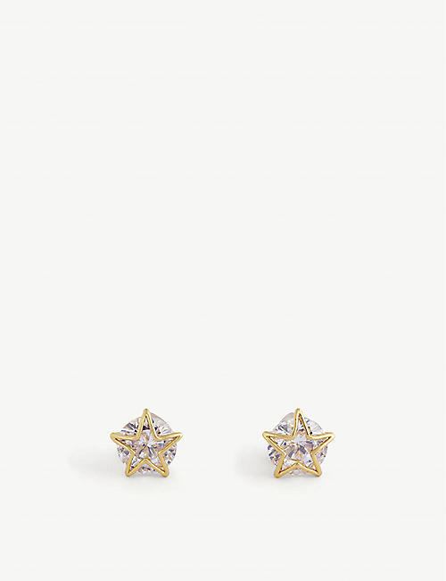 KATE SPADE NEW YORK: Star cubic zirconia stud earrings