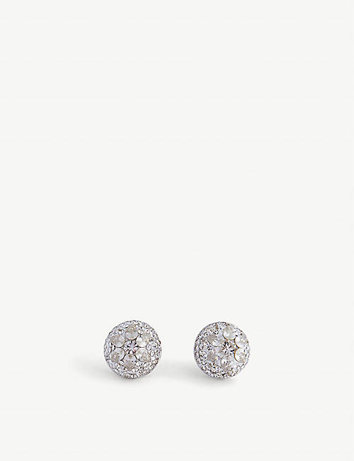 KATE SPADE NEW YORK: Dome cubic zirconia stud earrings