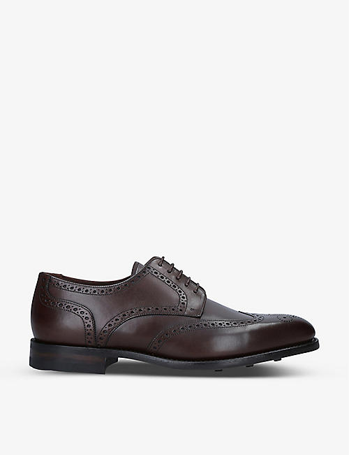 LOAKE: Wembley leather Derby brogues