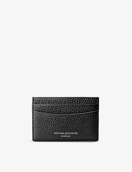 ASPINAL OF LONDON: Slim leather credit card case