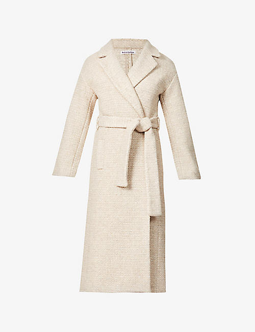 REFORMATION: Gooding tie-belt wool-blend coat