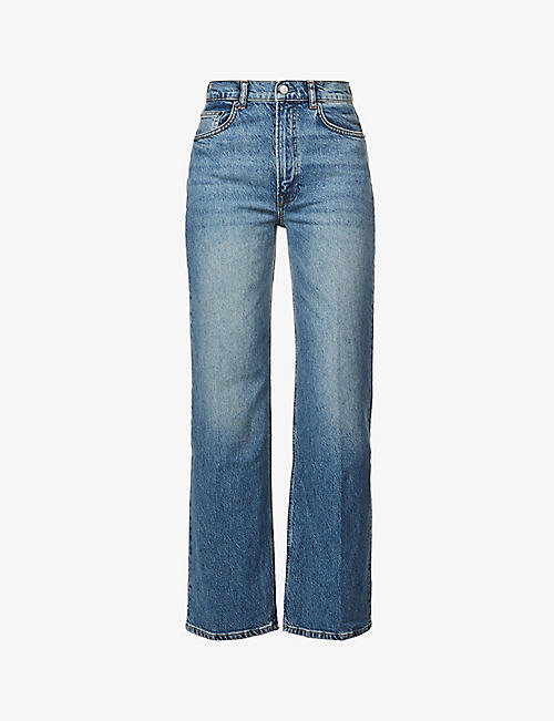 REFORMATION: Remi regular high-rise wide-leg organic cotton-blend stretch-denim jeans