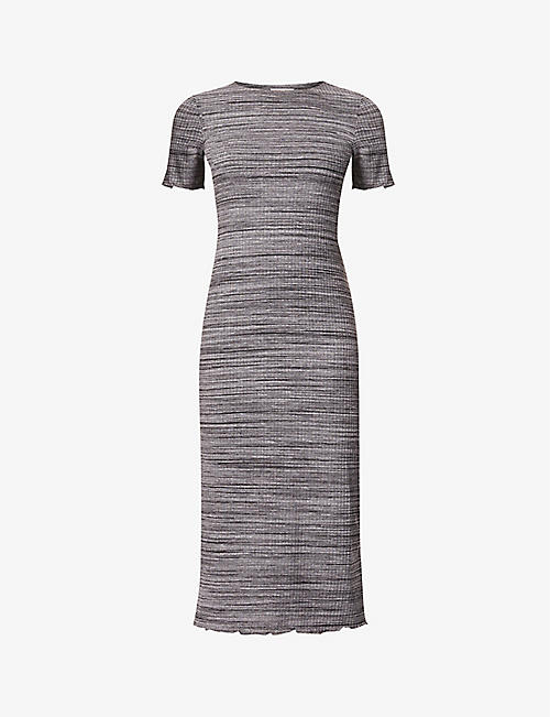 REFORMATION: Perry lettuce-hem stretch-woven midi dress