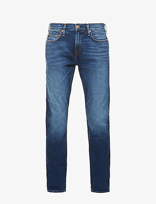 TRUE RELIGION: Rocco No Flap relaxed-fit skinny jeans