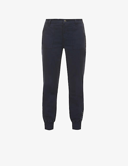 J BRAND: Arkin tapered mid-rise cotton-blend jogging bottoms