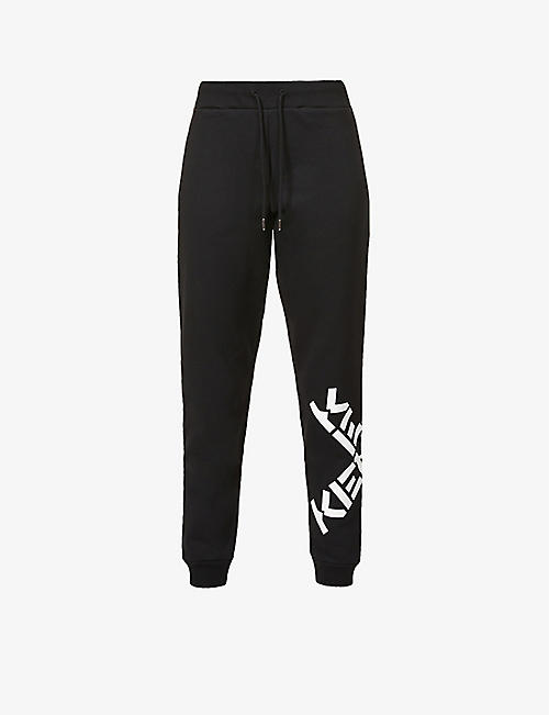KENZO: Sport branded high-rise cotton-blend jogging bottoms