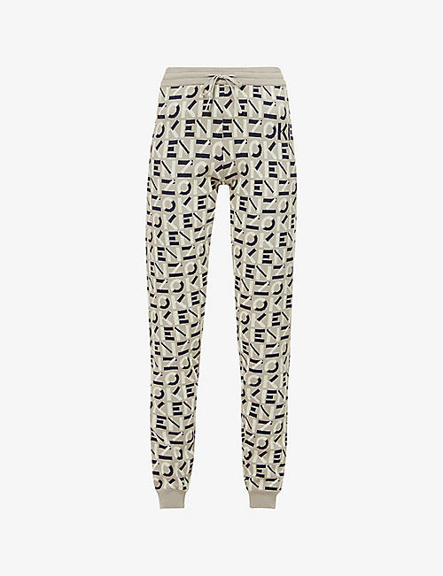 KENZO: Logo-print tapered cotton-knit jogging bottoms