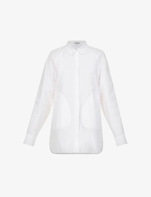KENZO: Loose-fit cotton-poplin shirt