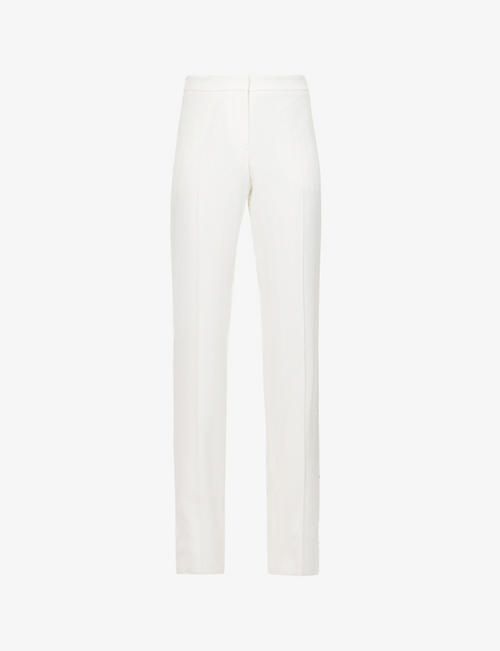 ALEXANDER MCQUEEN: Straight-leg high-rise crepe trousers