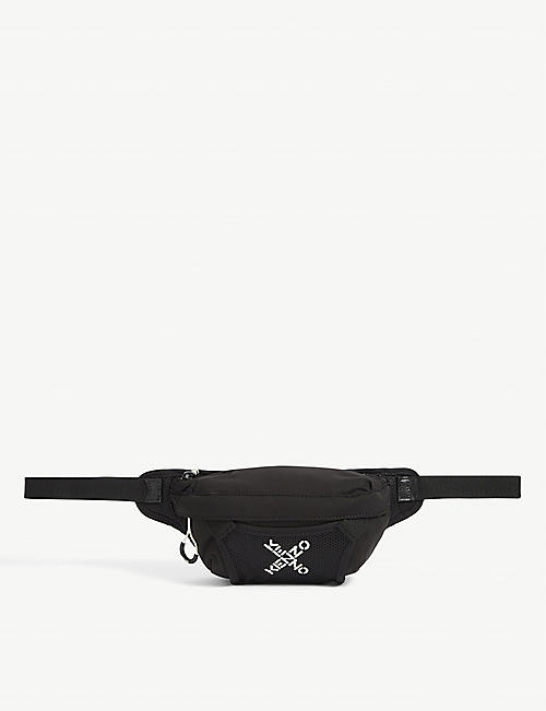 KENZO: Logo-print mini mesh belt bag