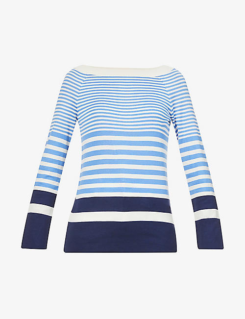 ALBERTA FERRETTI: Striped cotton-knit top