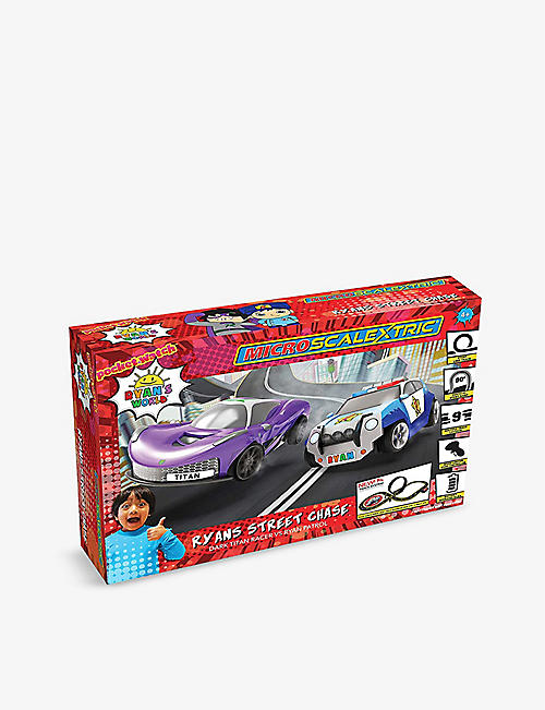 SCALEXTRIC: Micro Scalextric Ryan's World Street Chase Battery Powered Race Set