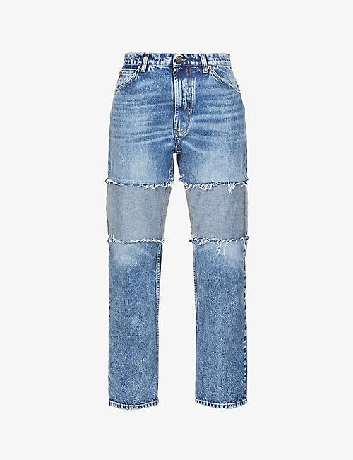 MAISON MARGIELA: Reverse-panel straight-leg high-rise jeans