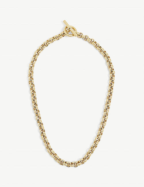 TILLY SVEAAS LTD: Curb gold-plated sterling silver necklace