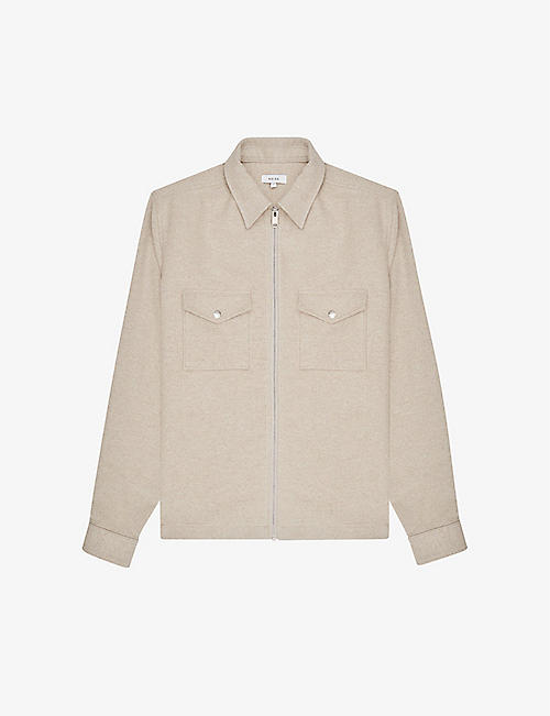 REISS: Vice cotton-jersey jacket