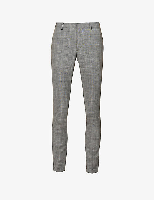 THE KOOPLES: Mid-rise slim-fit stretch-wool trousers