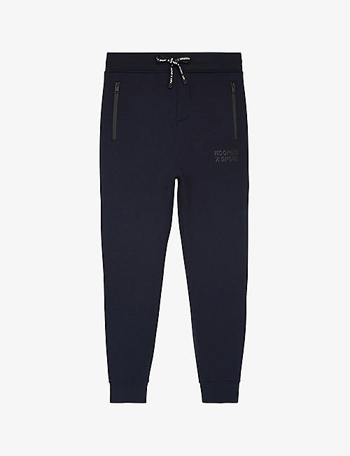 THE KOOPLES SPORT: Logo-print tapered mid-riseknitted jogging bottoms