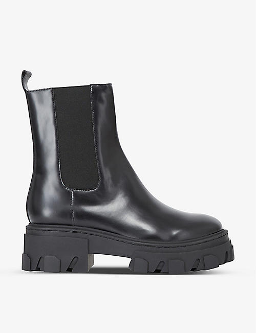 THE KOOPLES: Platform leather Chelsea boots