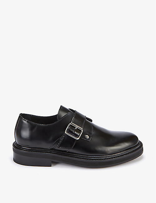THE KOOPLES: Leather single-monk strap brogues