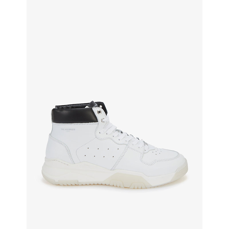 The Kooples Leathers PADDED-COLLAR HIGH-TOP LEATHER TRAINERS