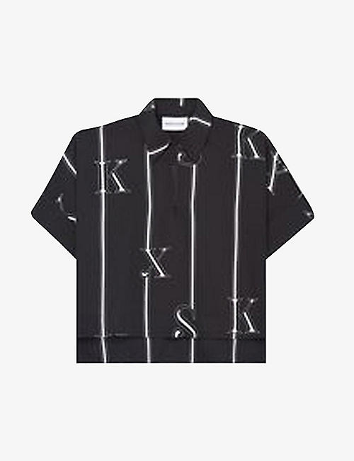 THE KOOPLES SPORT: Logo-print crepe shirt